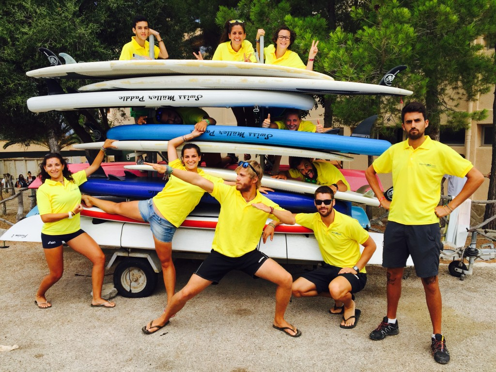 foto equipo monitores paddle surf